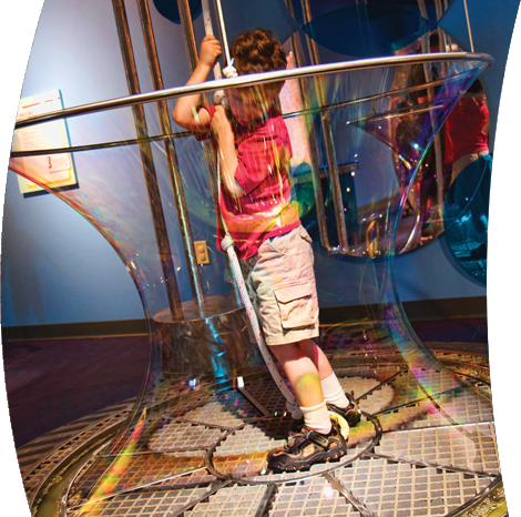 Children's Musuem of Virginia bubble room